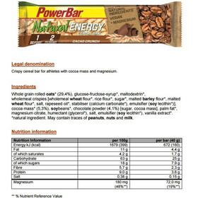 PowerBar Natural Energy Cereal Bar Box Cacao-Crunch 24 x 40g
